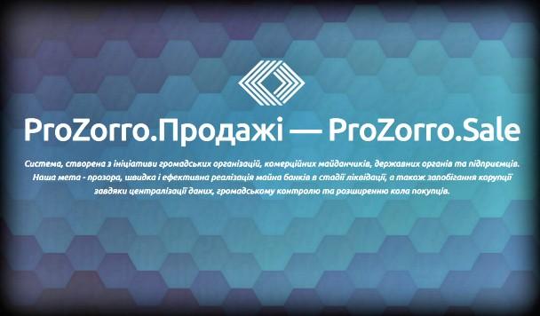 В ProZorro.Продажах появился первый лот