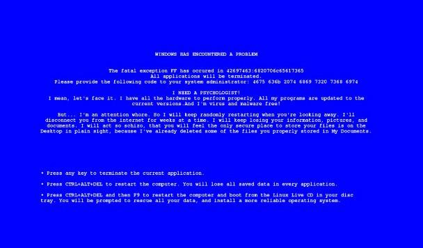 9 самых дурацких ошибок Windows