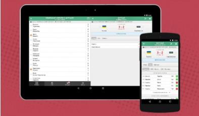Обзор приложения с live результатами спортивных матчей MyScore UA
