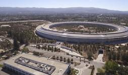 Практически завершенный кампус Apple сняли с дрона