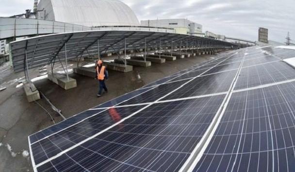 В Чернобыльской зоне отчуждения заработала первая солнечная электростанция