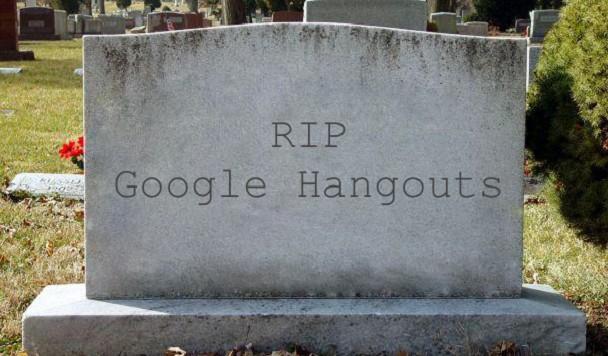 Google решил закрыть мессенджер Hangouts