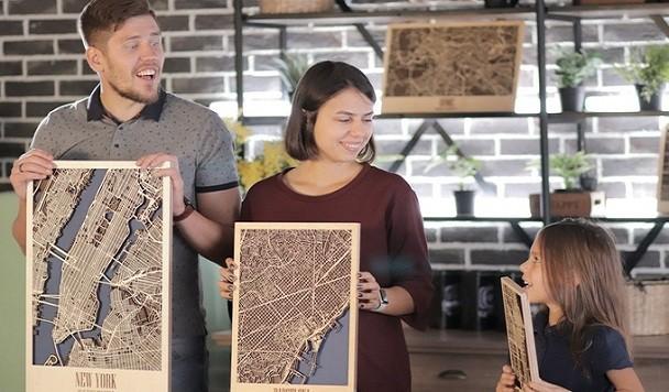 Украинский стартап собрал на Kickstarter более $56 тясяч на деревянные 3D-карты городов мира