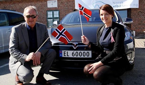 Треть проданных новых автомобилей в Норвегии – электрокары