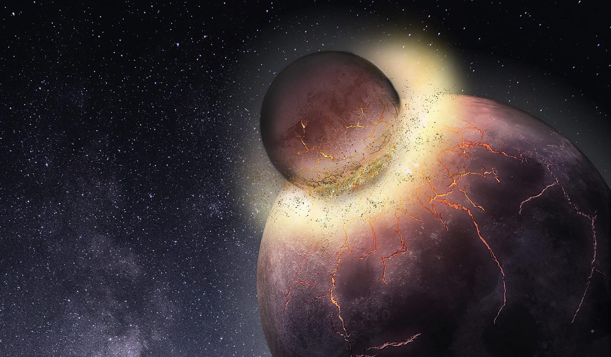 Жизнь на Земле - результат колоссальной катастрофы
