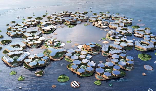 Разработан концепт плавучего города, устойчивого к самым сильным штормам