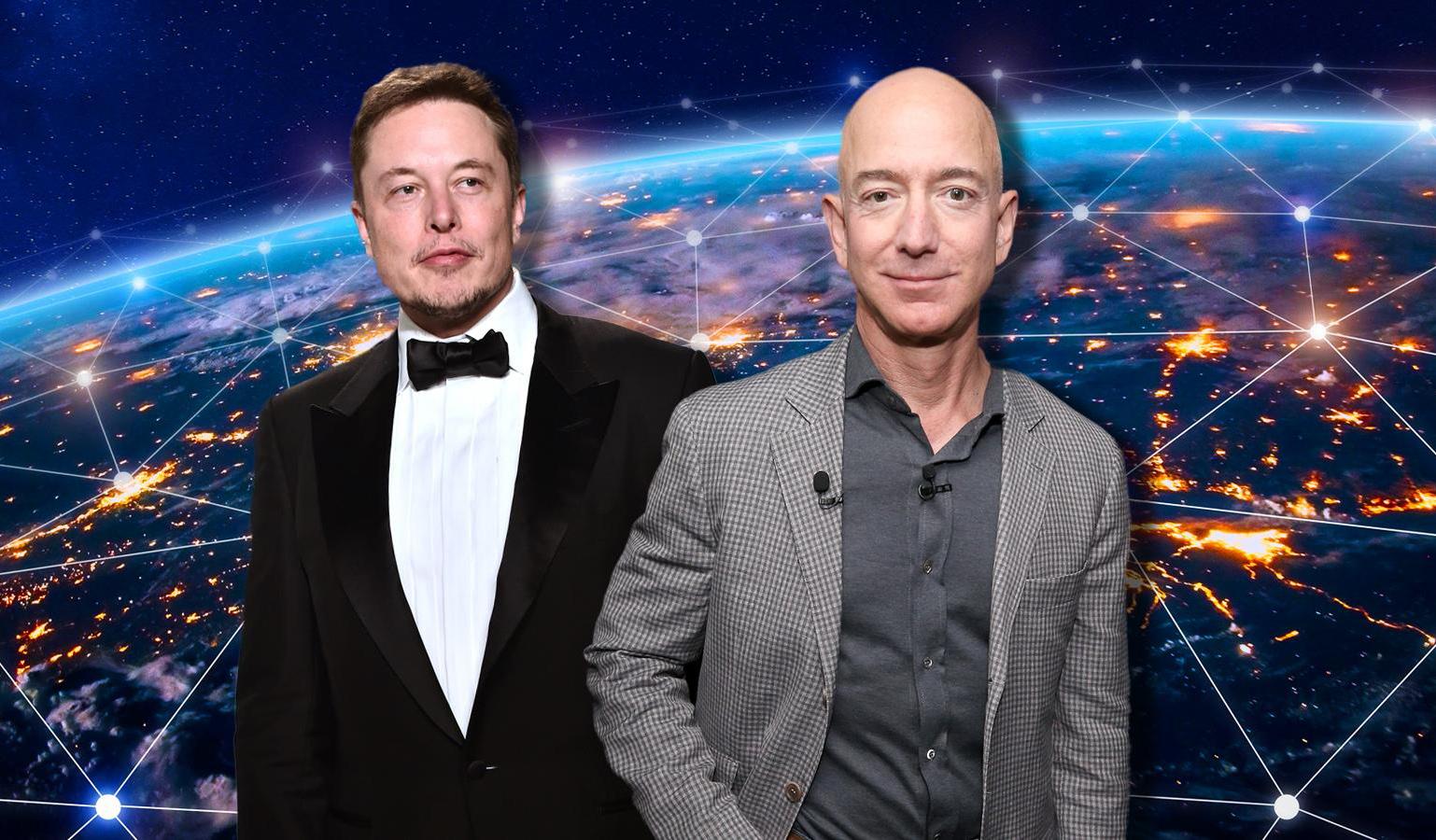 Как Илон Маск с Джеффом Безосом из-за космического интернета поссорился