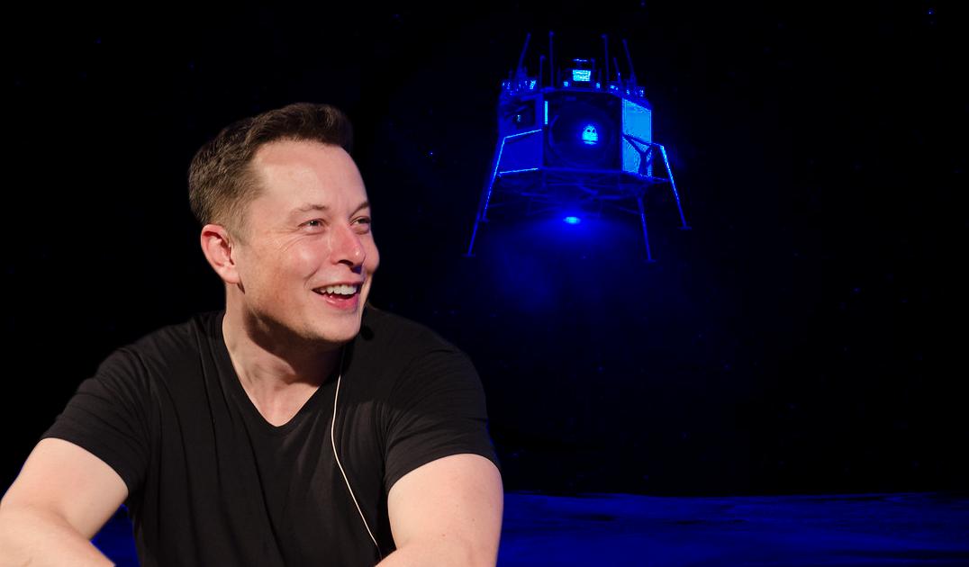 Война продолжается: Илон Маск посмеялся над лунным модулем Джеффа Безоса
