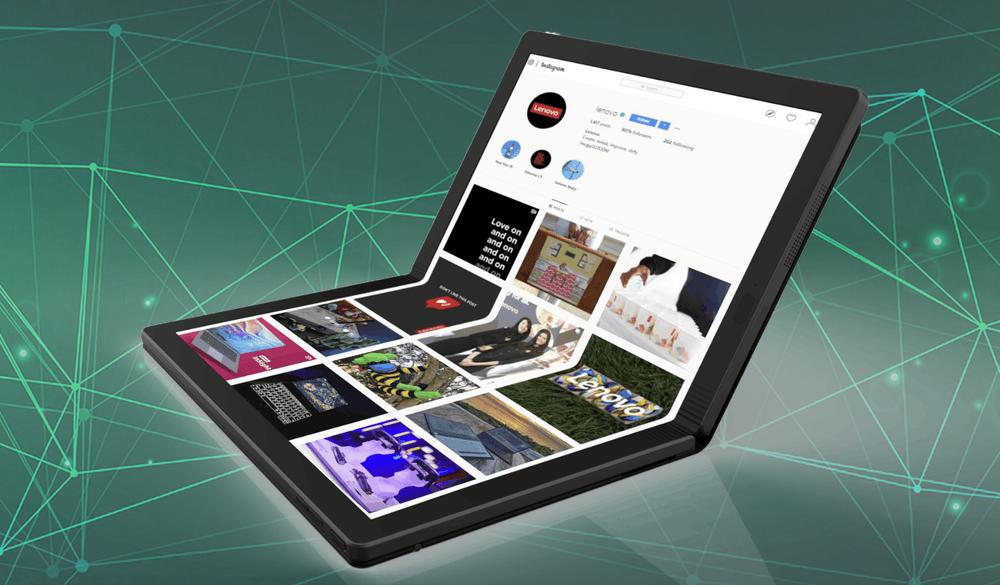 Lenovo показала первый в мире компьютер со складным дисплеем