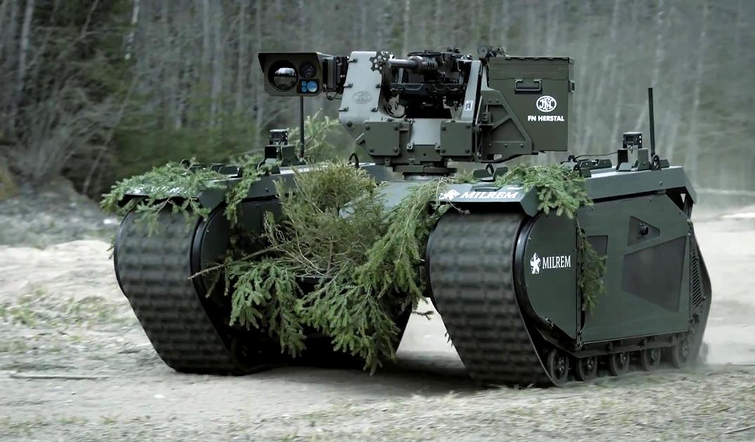 """Представлен беспилотный танк, напоминающий машины из """"Терминатора"""""""