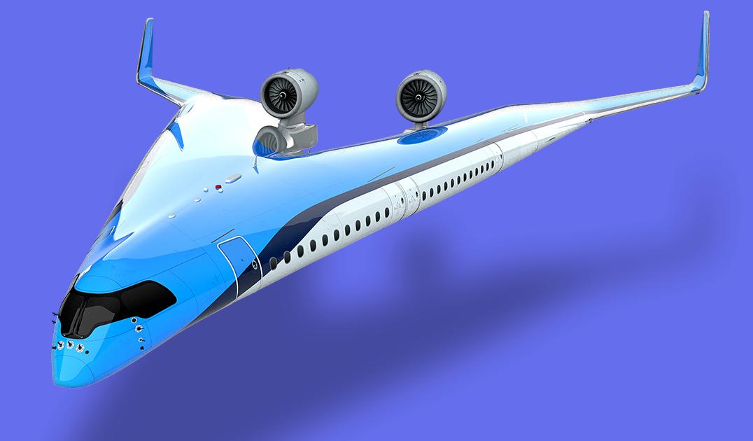 Представлен концепт самого необычного самолета в мире