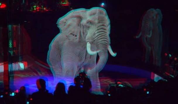 Немецкий цирк использует голограммы вместо животных