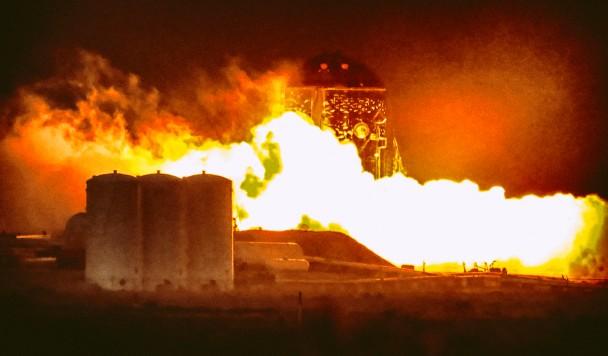 """Илон Маск: """"Starhopper пережил пожар и готов к новому полету"""""""