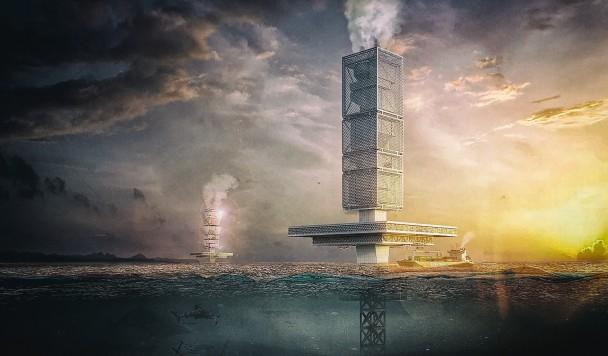 Разработан концепт гигантской очистной станции для мусора в океане