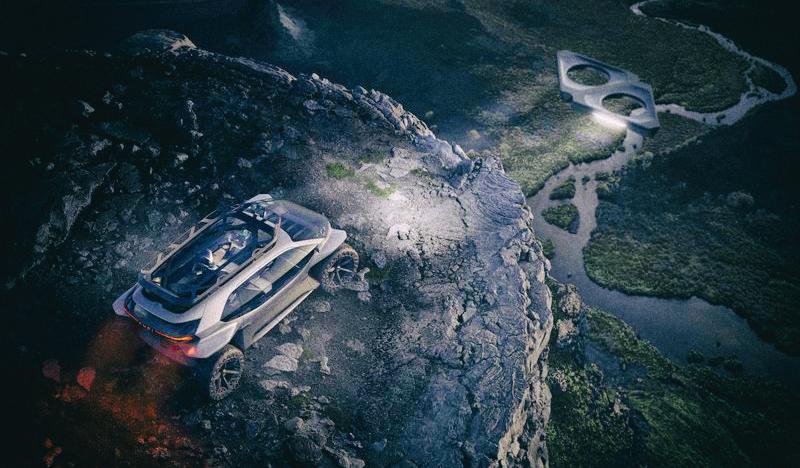Audi разработала концепт электрического внедорожника с дронами вместо фар