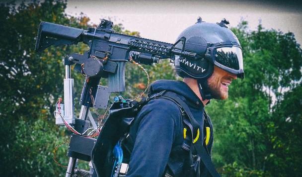 Разработчики реактивного ранца установили на него автоматическую винтовку