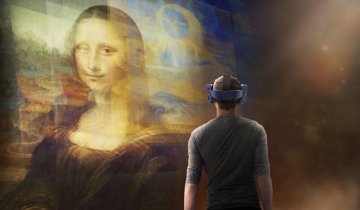 Виртуальная реальность Музея Лувра оживляет Мону Лизу