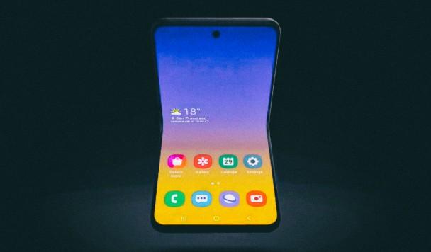 Samsung представил концепт складного смартфона-ракушки с гибким дисплеем