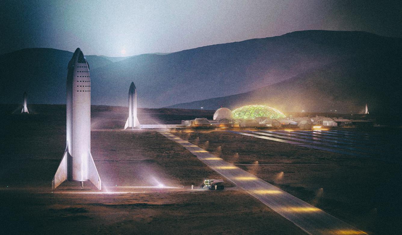 """Илон Маск: """"С тысячей кораблей Starship я могу построить город на Марсе"""""""