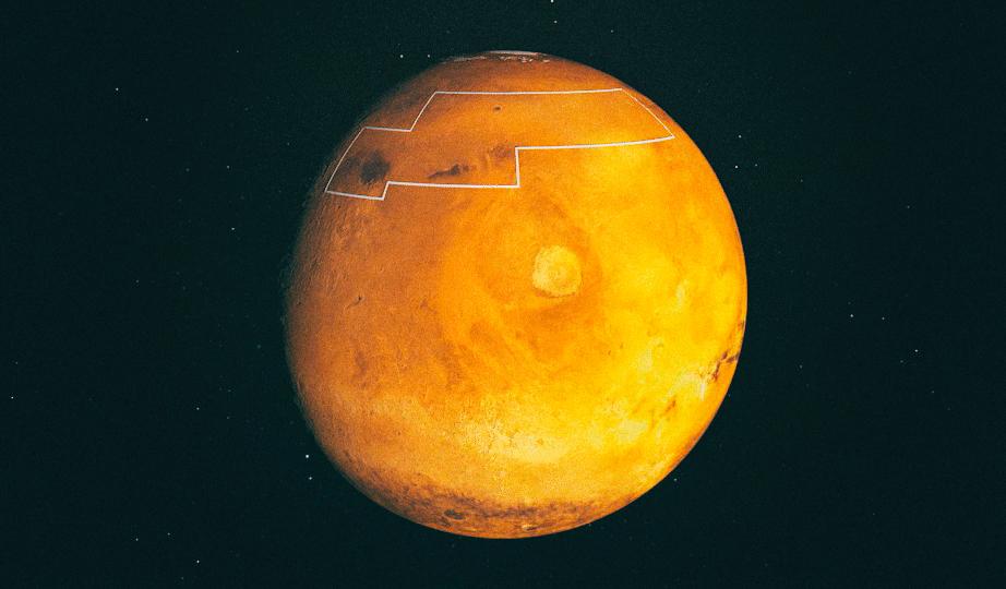 NASA опубликовало карту марсианских вод для будущих колонистов