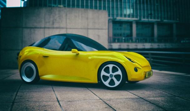Разработан концепт спортивного автомобиля из переработанного пластика