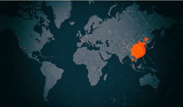 Запущена интерактивная онлайн-карта распространения коронавируса