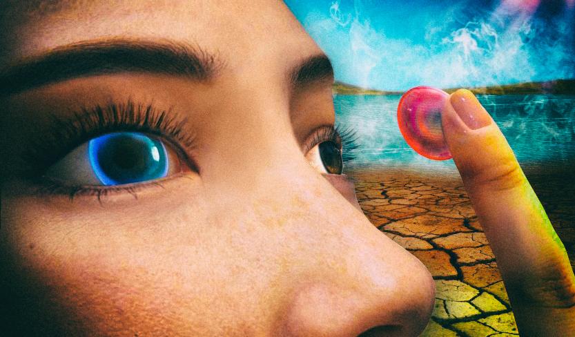 Умная контактная линза сообщает о заболевании глаза сменой цвета