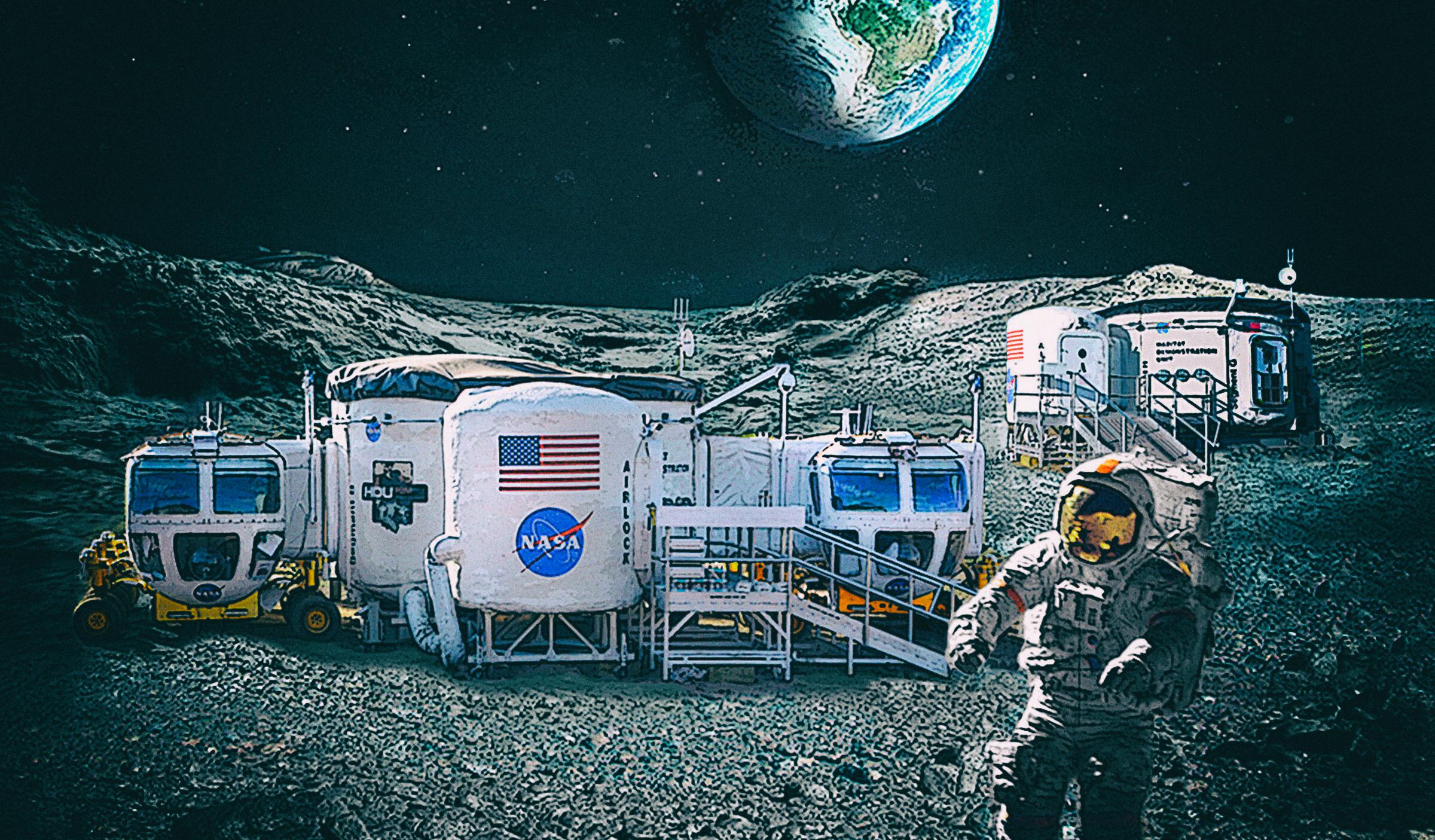 Самовосстанавливающиеся конструкции позволят обжить Луну