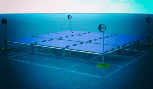 """Плавучая электростанция вырабатывает сразу несколько видов """"чистой"""" энергии"""