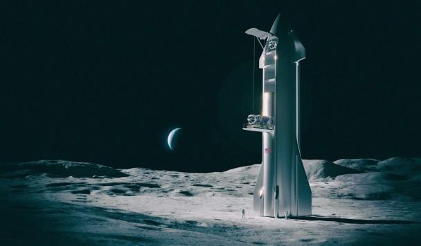 Илон Маск уже строит планы посадки Starship на Луну