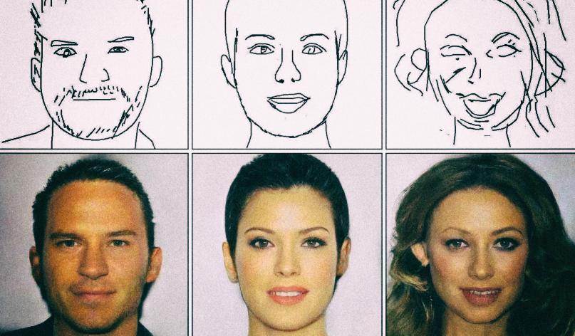 Создан инструмент, превращающий схематичные эскизы в реалистичные портреты