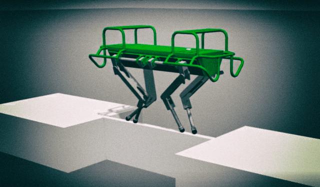 Четвероногий робот научился ходить по тонкой жердочке