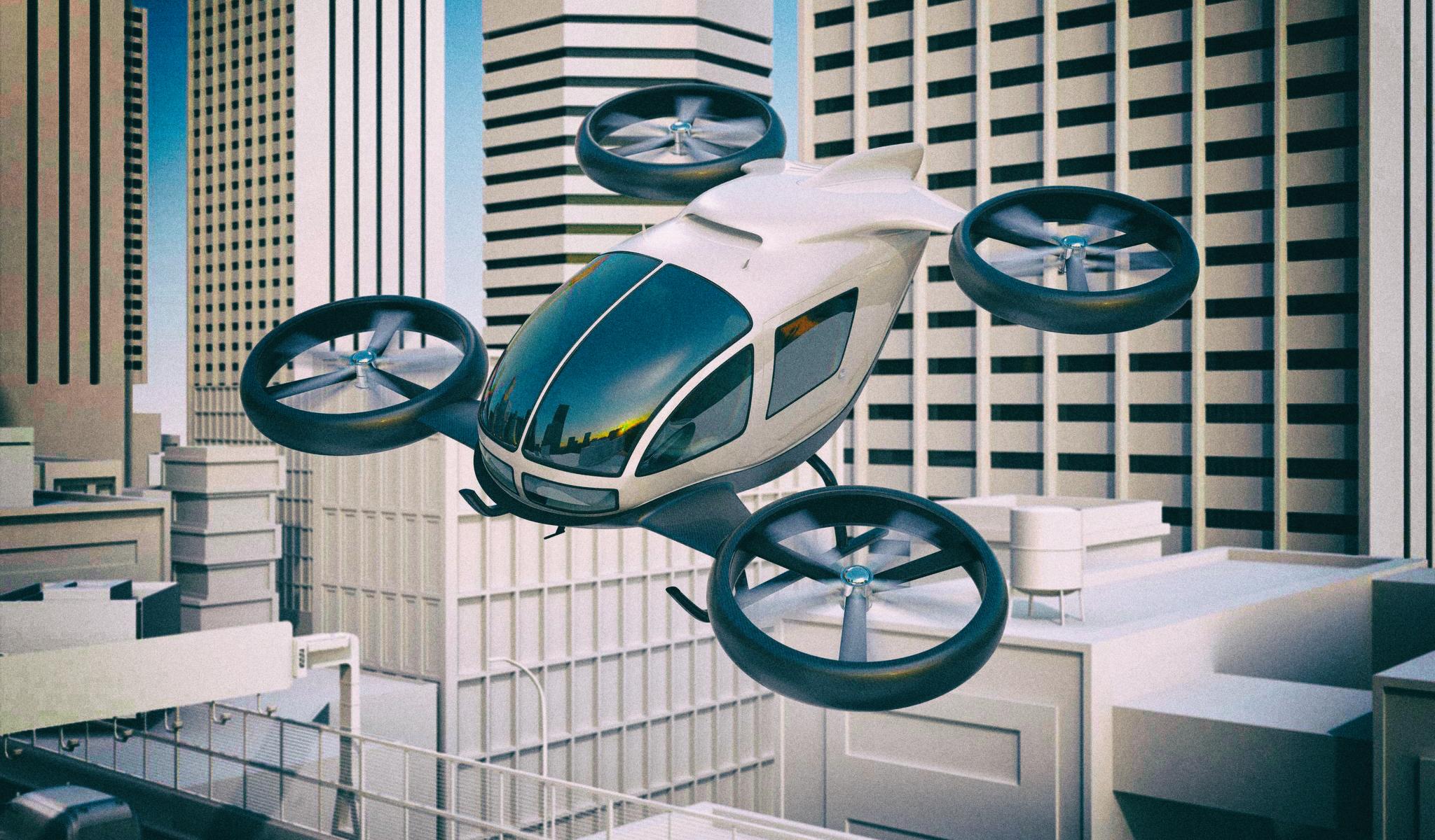 Как дроны и летающие машины изменят наши города