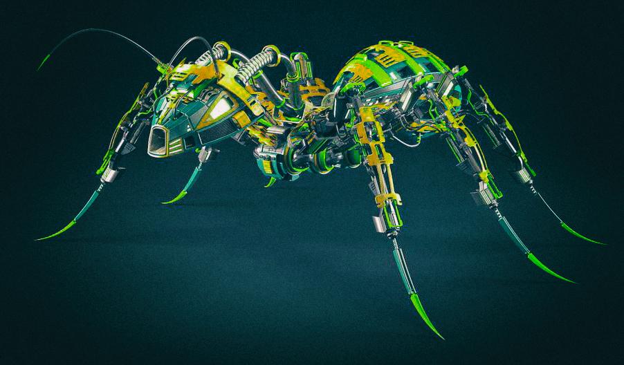 Рои роботов могут общаться, подобно муравьям