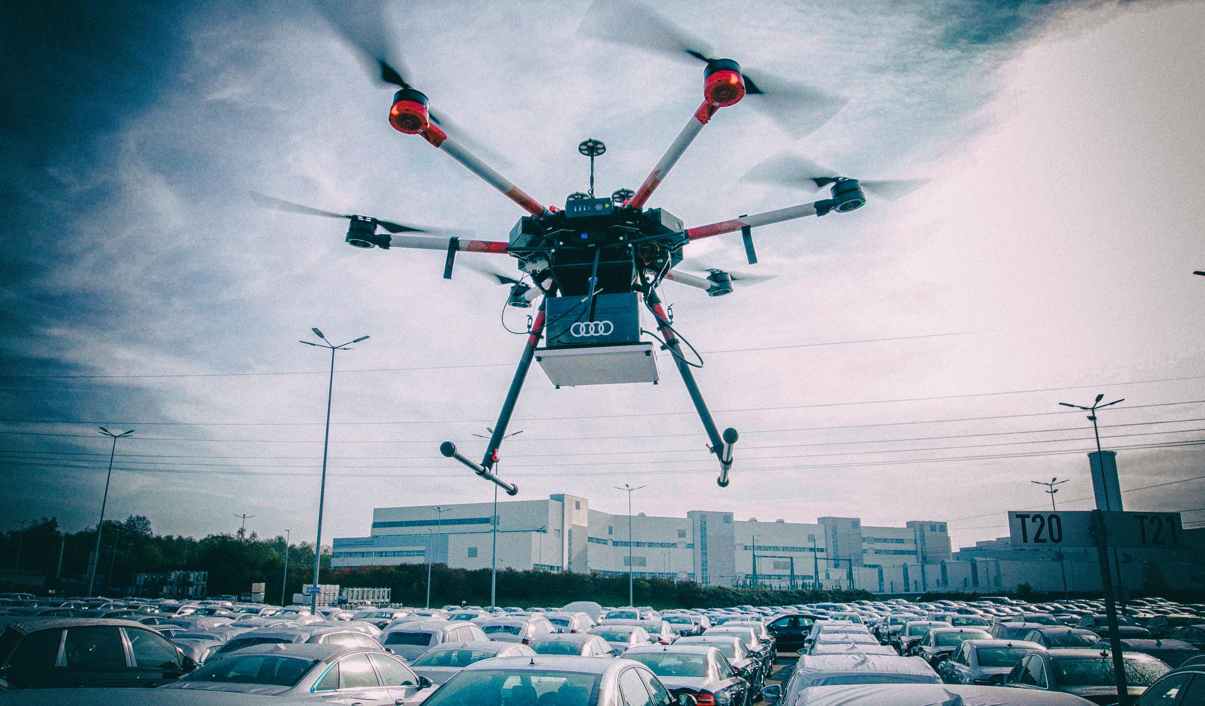 Audi использует дроны для картирования своих автостоянок