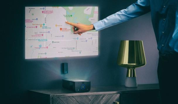 Представлен проектор, превращающий любую поверхность в сенсорный экран