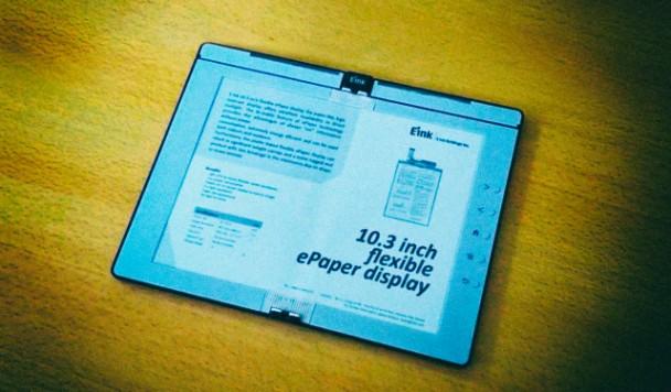 Представлена первая электронная книга с гибким складным E Ink дисплеем