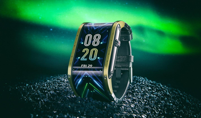 Представлены смарт-часы с огромным гибким дисплеем