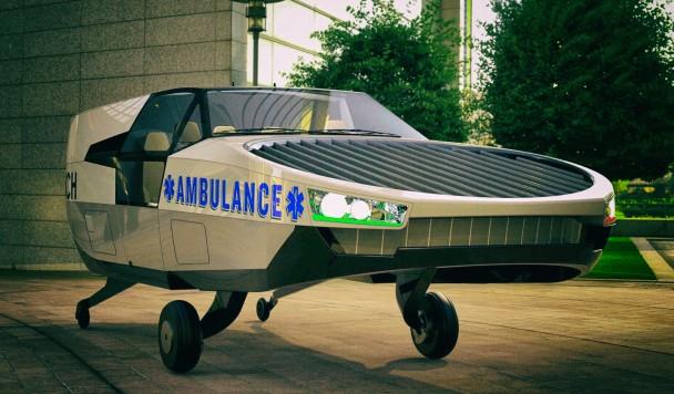 Создается летающий автомобиль скорой помощи