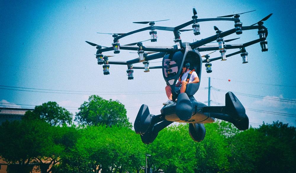 Американские ВВС построили необычный пассажирский мультикоптер