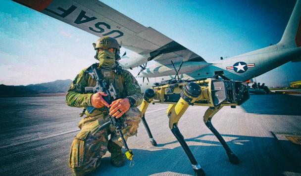 Робопсы займутся охраной американских авиабаз