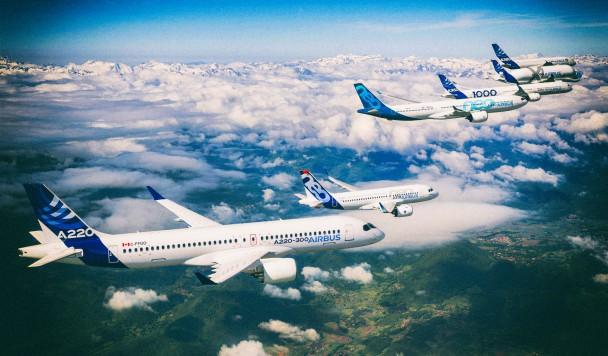 В будущем пассажирские самолеты будут летать клином