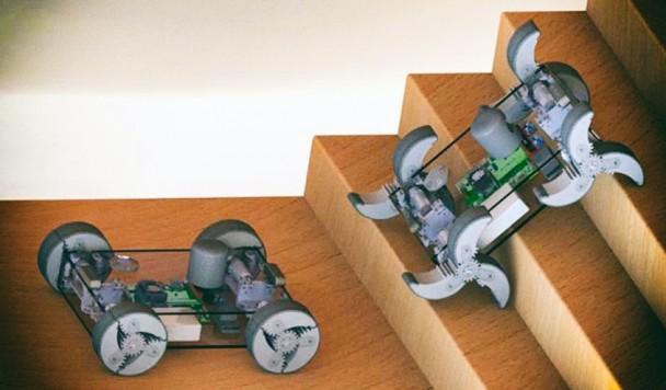 Создан робот, колеса которого могут превращаться в ноги