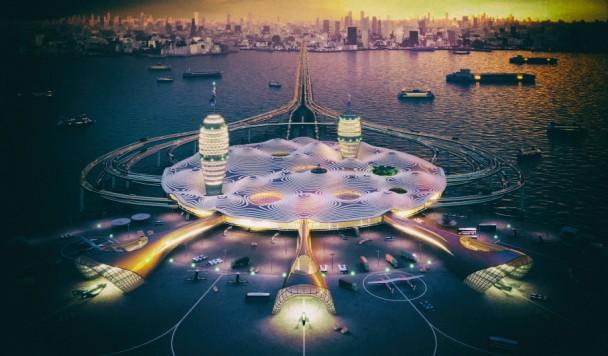 В Японии разработан концепт гражданского плавучего космопорта