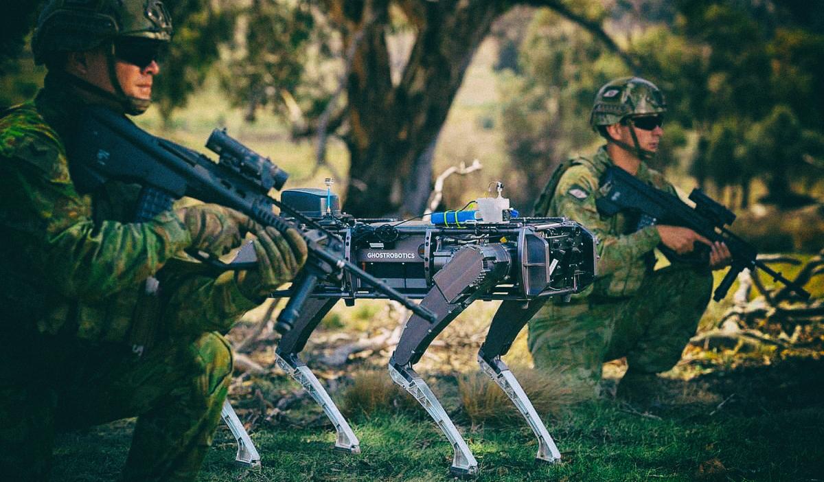 Разработан четвероногий робот для военных