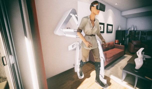 Представлен подвесной экзоскелет для ходьбы в виртуальной реальности