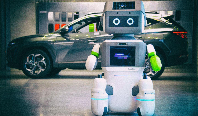 Новый интерактивный робот Hyundai будет обслуживать покупателей в автосалонах