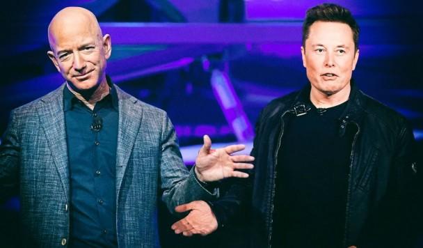 Илон Маск и Джефф Безос поссорились из-за космического интернета