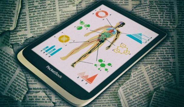PocketBook представила большой ридер с цветным дисплеем