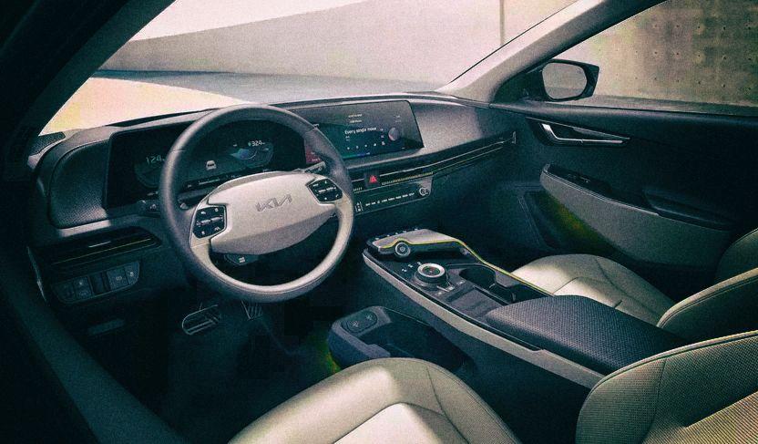 Новый электромобиль Kia получит футуристический интерьер